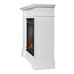 Devin Electric Fireplace in White - Soothing Company
