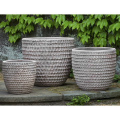 Dimple Planter Set of 3 in Antico Terra Cotta - Soothing Company