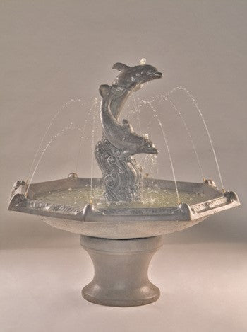 Dolphins Fountain with Octagon Bowl