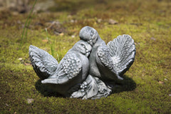 Dove Small Pair Cast Stone Garden Statue - Soothing Company