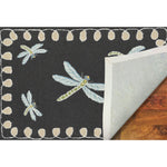 Liora Manne Frontporch Dragonfly Midnight Area Rug - Soothing Company