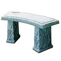 Dragonfly Curved Garden Stone Bench - Soothing Company