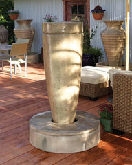 Drum Outdoor Fountain - Soothing Walls