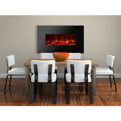 "36"" Royal Wall Mount Electric Fireplace with Logs - Soothing Company"