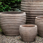 Elia Planter  Set of 5 in Antico Terra Cotta - Soothing Company