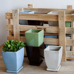 Elizabeth Planter Crate Set of 16 in Linen Mix - Soothing Company