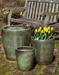 Ellesmere Planter - Set of 3 in Metallic Green - Soothing Company