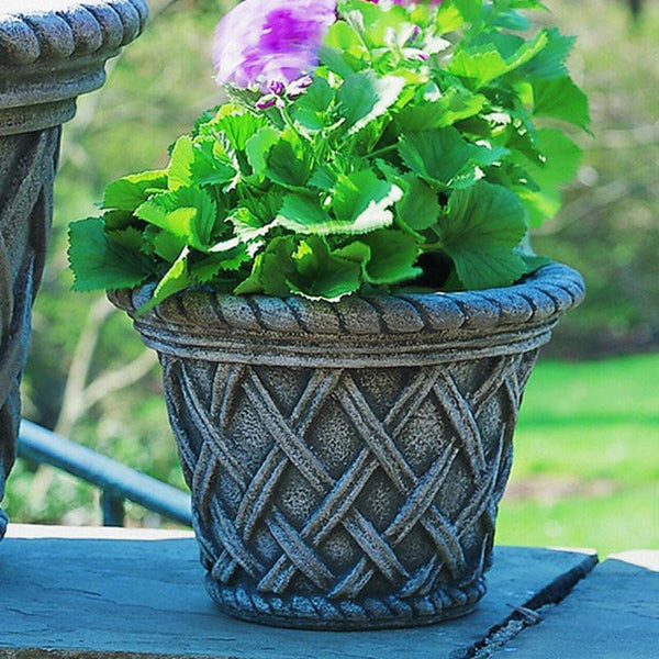 English Weave Small Garden Planter - Soothing Company