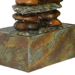 Eternity Tabletop Fountain: Stacked Rocks - Soothing Walls