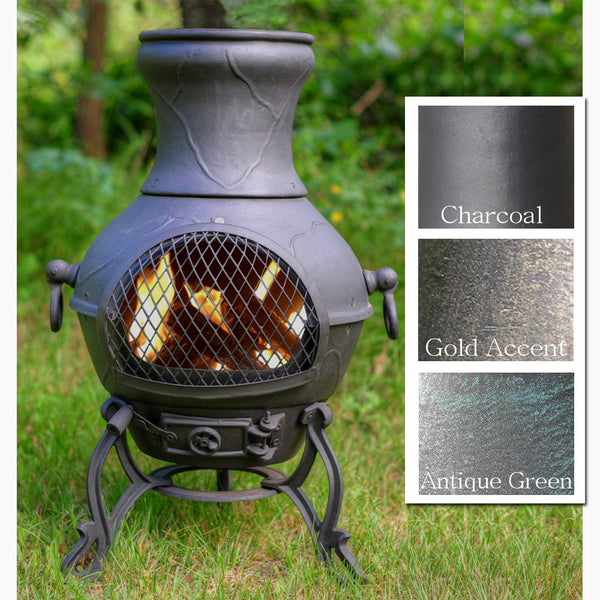 The Blue Rooster Etruscan Chiminea - Soothing Company