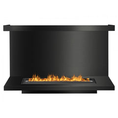 Ignis FB3600-C-Shaped Ethanol Fireplace Insert in Black - Soothing Company