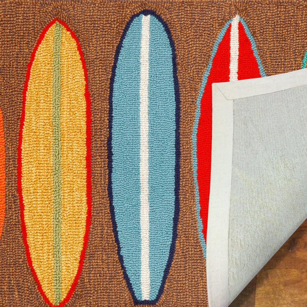 Liora Manne Frontporch Surfboards Brown Area Rug - Soothing Company