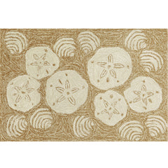Liora Manne Frontporch Shell Toss Natural Area Rug - Soothing Company