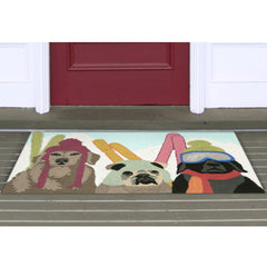 Liora Manne Frontporch Ski Patrol Multi Colors Area Rug - Soothing Company