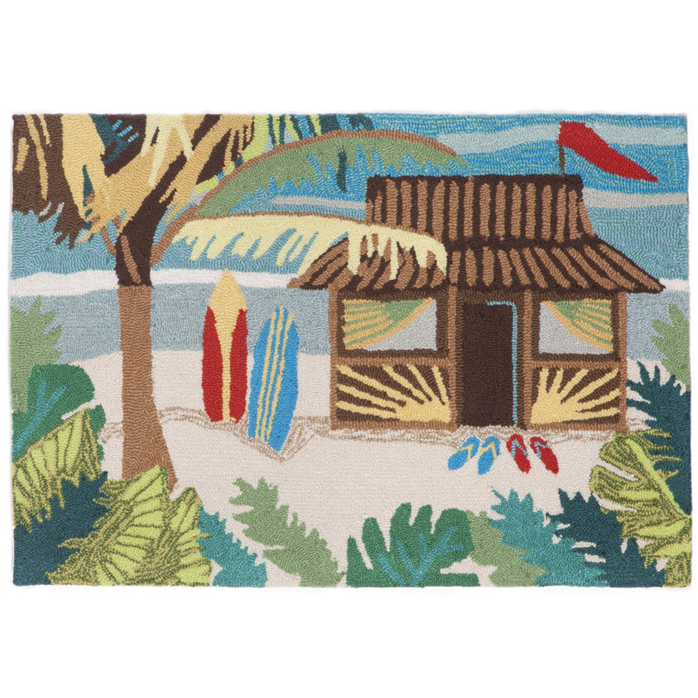 Liora Manne Frontporch Tiki Hut Multi Colors Area Rug - Soothing Company