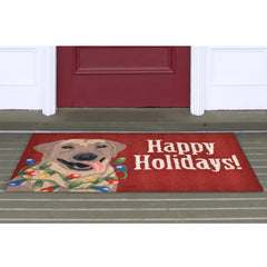 Liora Manne Frontporch Happy Holidays Red Area Rug - Soothing Company