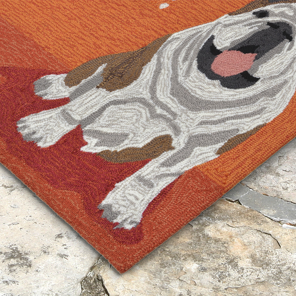 Liora Manne Frontporch Wet Kiss Orange Area Rug - Soothing Company