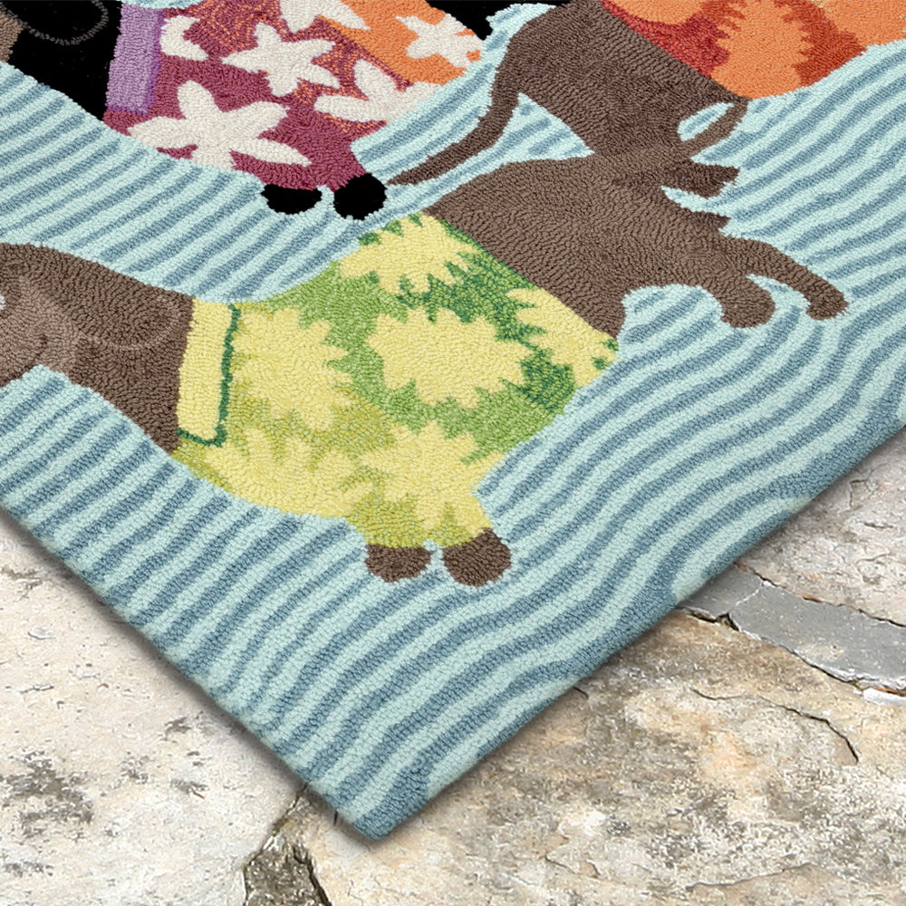 Liora Manne Frontporch Tropical Hounds Area Rug - Soothing Company