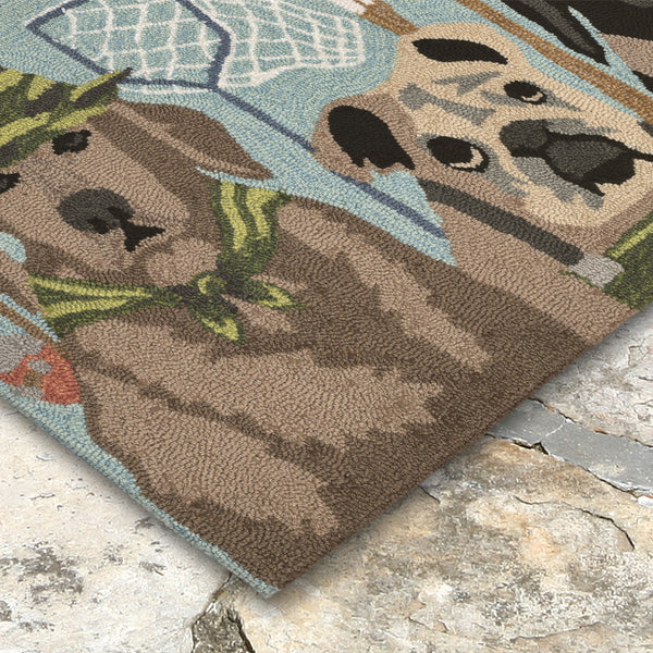 Liora Manne Frontporch Fishing Patrol Area Rug - Soothing Company