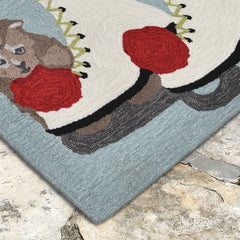Liora Manne Frontporch Skates And Kittens Ice Area Rug - Soothing Company