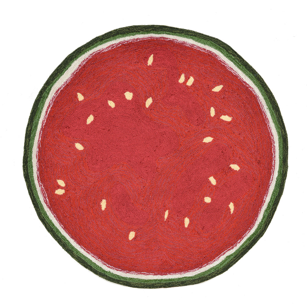 Liora Manne Frontporch Watermelon Slice Red Area Rug - Soothing Company