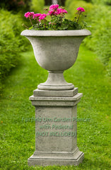 Fairfield Urn Garden Planter with Pedestal (NOT Included) - Soothing Company