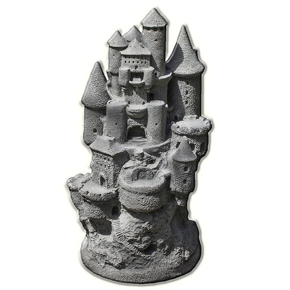 Fairy Castle Cast Stone Garden Statue - Soothing Company