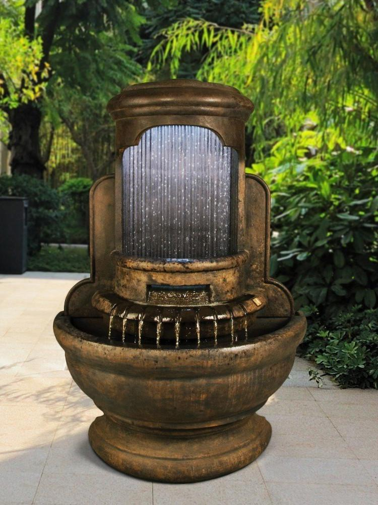 Falling Diamonds Outdoor Wall Water Fountain - Soothing ...