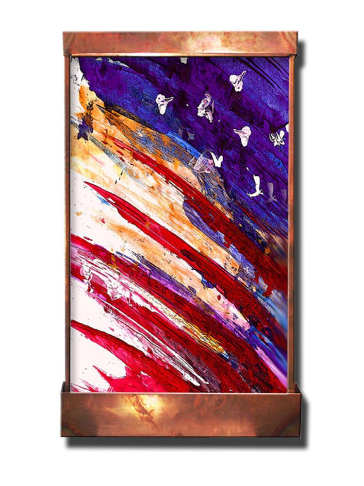Flag Abstract Galaxy Wall Fountain - Soothing Company