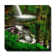 Forest and Falls Outdoor Canvas Art - Outdoor Art Pros