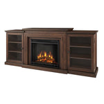 Frederick Entertainment Center Electric Fireplace in Chestnut Oak - Soothing Company
