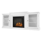 Frederick Entertainment Center Electric Fireplace in White - Soothing Company