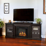 Frederick Entertainment Center Electric Fireplace in Blackwash - Soothing Company