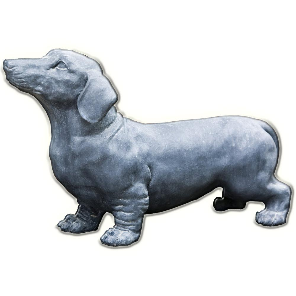 Fritz The Dachshund Dog Cast Stone Garden Statue - Soothing Company