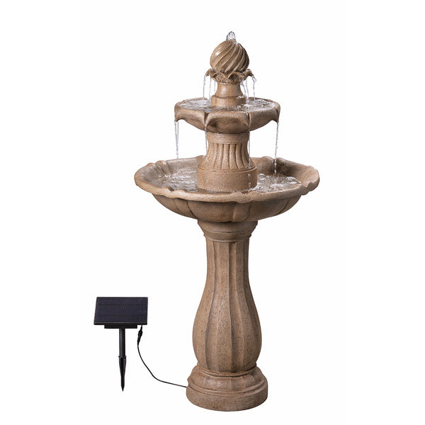 Frost Outdoor Solar Floor Fountain - Soothing Company