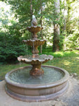 Garda Three Tier Pond Outdoor Water Fountain