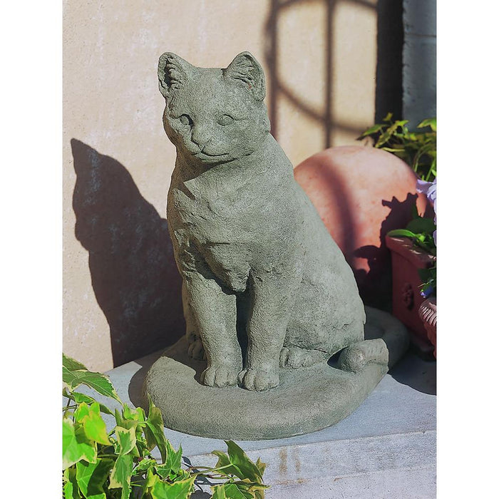 Garden Cat Cast Stone Statue - Soothing Company