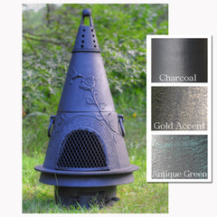 The Blue Rooster Garden Chiminea - Soothing Company