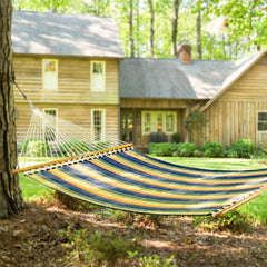 Pawleys Island Large Quilted Fabric Hammock in Gateway Aspen - Soothing Company