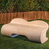 Geneva Contemporary Stone Bench - Soothing Company
