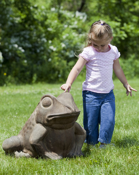 Giant Garden Frog Cast Stone Statue - Soothing Company