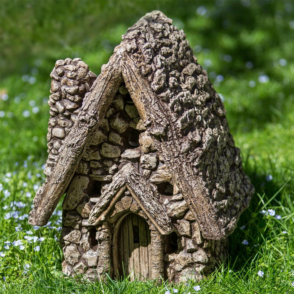 Gnome Sweet Home (2 pcs) Cast Stone Garden Statue - Soothing Company