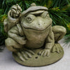 Golfer Frog Cast Stone Garden Statue - Soothing Company