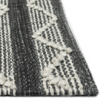 Liora Manne Artista Diamond Stripe Grey Area Rug - Soothing Company