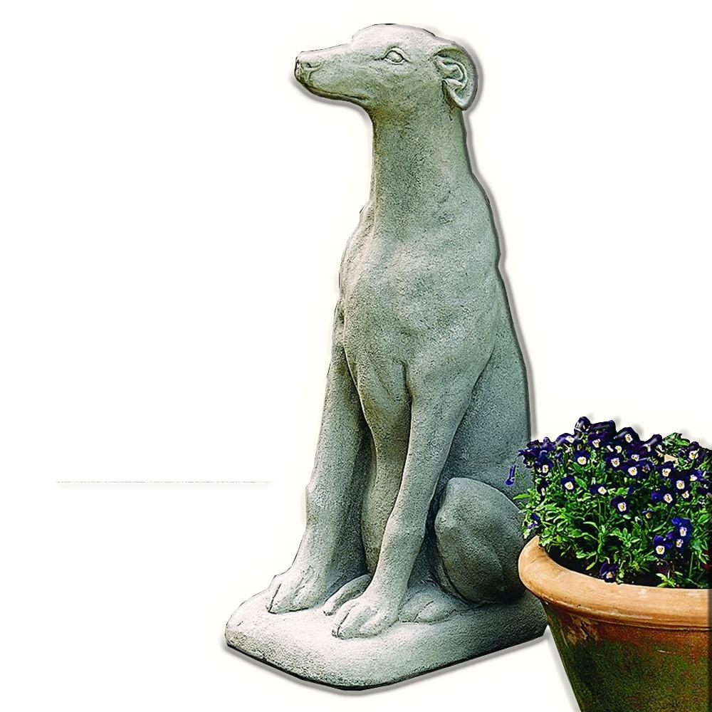 Greyhound Cast Stone Garden Statue - Soothing Company