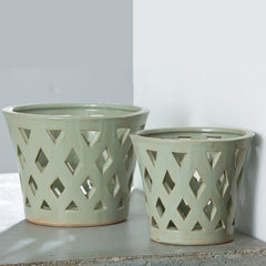 Gwyneth Large Planter - Set of 4 in Linen Sage - Soothing Company