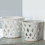 Gwyneth Large Planter - Set of 4 in Linen White - Soothing Company