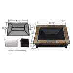 Hamilton Rectangle Wood-Burning Fire Pit - Soothing Company