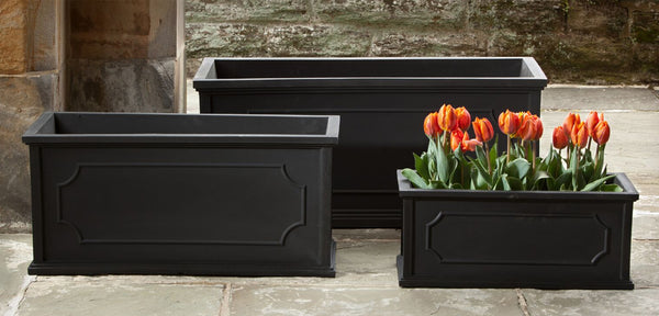 Hampshire Poly Window Box - Set of 3 in Black - Soothing Company