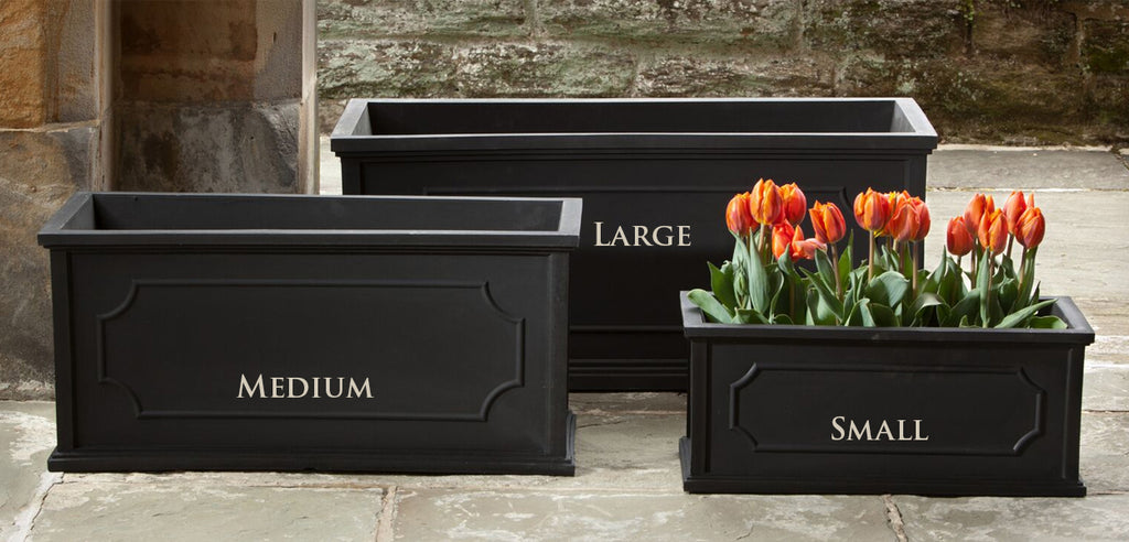 Hampshire Poly Window Box in Black - Soothing Company